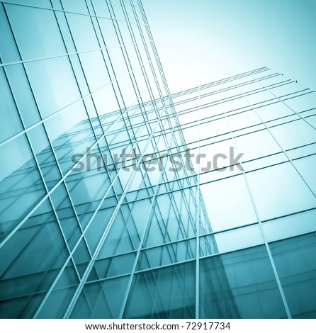 perspective pane of blue real estate - stock photo
