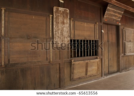 Perspective view of pioneer settler's homes, Sarawak, - stock photo