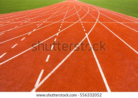 Perspective view of running track.