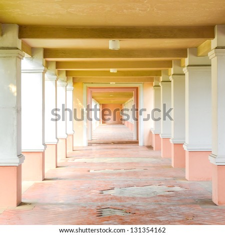 Perspective way - stock photo