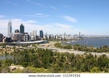perth skyline stock images royalty free images vectors shutterstock. Black Bedroom Furniture Sets. Home Design Ideas