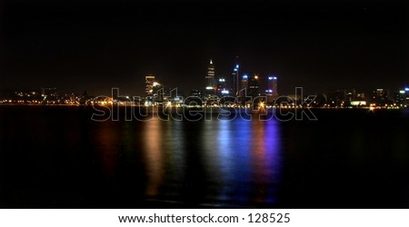 Perth City skyline - stock photo