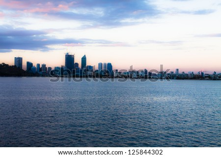 Perth Skyline from Swan River