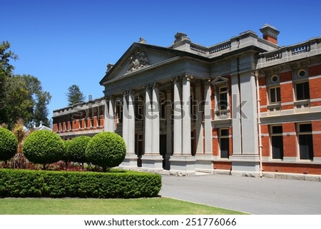 Perth - Supreme Court of Western Australia. Old building. - stock photo