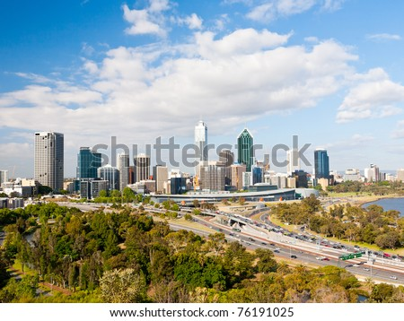 Perth Western Australia skyline from Kings Park