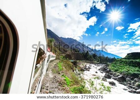 Peru Rail from Cuzco to Machu Picchu (Peru) - stock photo