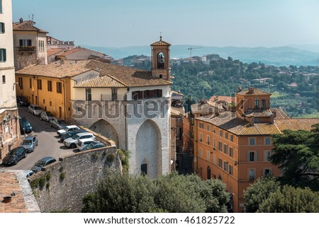 Perugia View from the lookout. Italy.