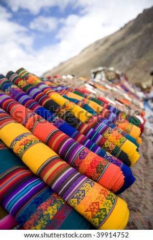 Peruvian Blankets - stock photo