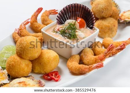 Peruvian food: Piqueo caliente. - stock photo