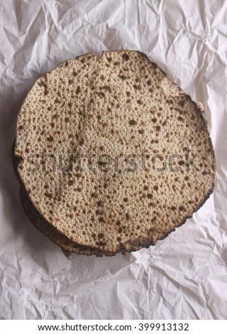 Pesah celebration concept (jewish Passover holiday) matza - stock photo