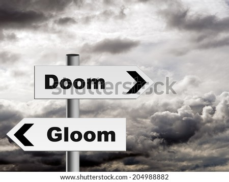 Pessimism, recession etc. Financial or general use doom and gloom! - stock photo