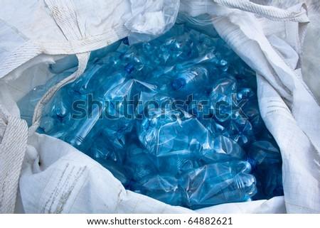 PET bottle in big bag - stock photo