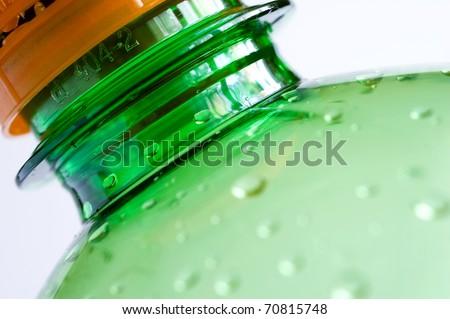 PET bottle isolated on white background - stock photo