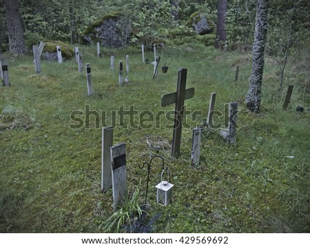 Pet Cemetery - stock photo