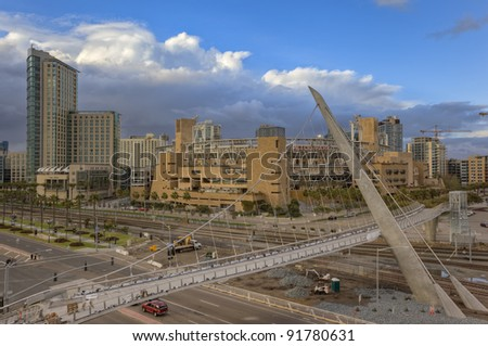 Petco Park & Downtown San Diego - stock photo