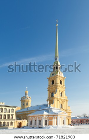 Peter and Paul Cathedral. St. Petersburg. Russia. - stock photo