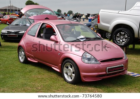 PETERBOROUGH, ENGLAND - May 24: Pink Ford Ka on May 24, 2008 in Peterborough, England, UK.  Peterborough Show Ground is Host to Annual Modified Nationals Automotive Show