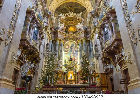 Peterskirche or st. Peter church at Vienna, Austria - stock photo