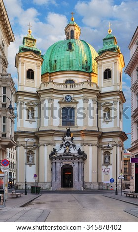 Peterskirche (St. Peters Church) in Vienna, Austria, Europe. - stock photo