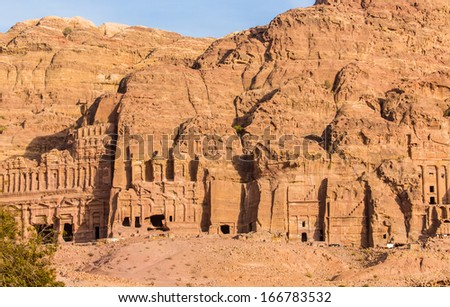 Petra in Jordan � where homes, public spaces and temples were carved into the sandstone