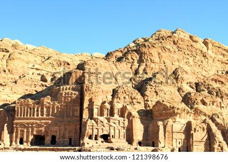 Petra, Lost rock city of Jordan. - stock photo