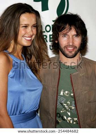 Petra Nemcova and James Blunt attend the Global Green USA Pre-Oscar Celebration to Benefit Global Warming held at the The Avalon in Hollywood, California on February 21, 2007. - stock photo