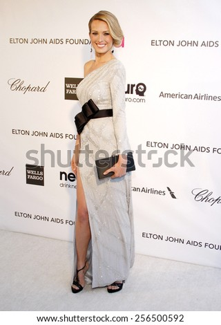Petra Nemcova at the 21st Annual Elton John AIDS Foundation Academy Awards Viewing Party held at the Pacific Design Center in Los Angeles, United States, 240213.