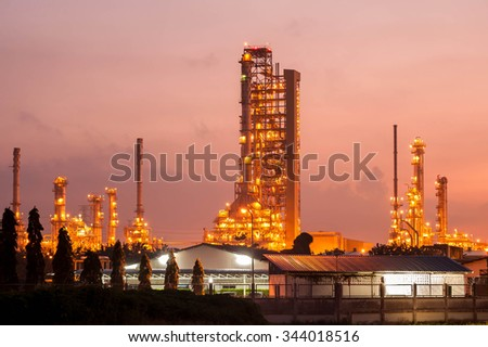 Petrochemical industrial at the morning - stock photo