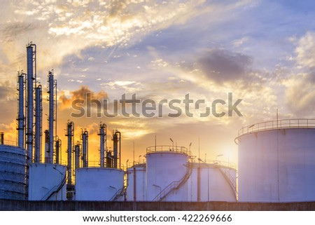 Petrochemical  Industrial Oil , Refinery plants . - stock photo