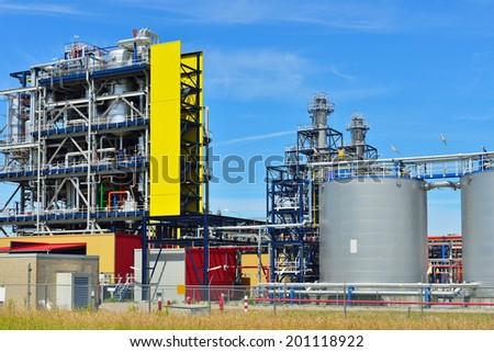 petrochemical industry in the netherlands - stock photo