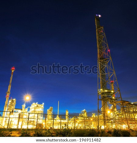 Petrochemical plant - stock photo