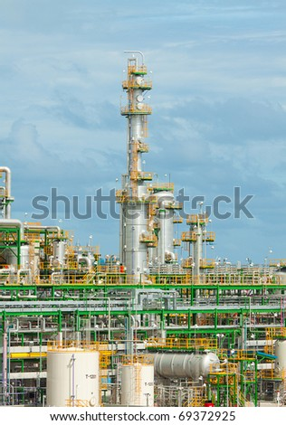 Petrochemical plant high rise to sky - stock photo
