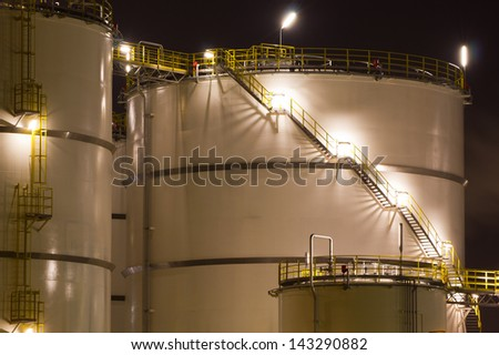 Petrochemical-tanks - stock photo
