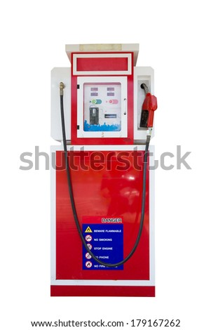 Petrol pump isolated on white background - stock photo