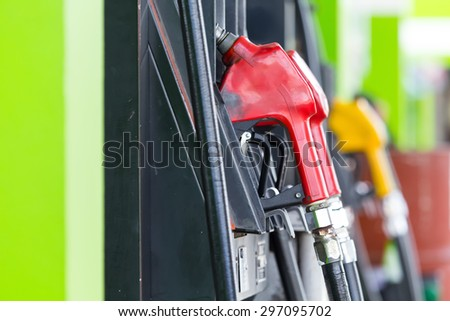 petrol station for refueling cars - stock photo