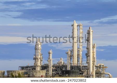 Petroleum plant with sky - stock photo