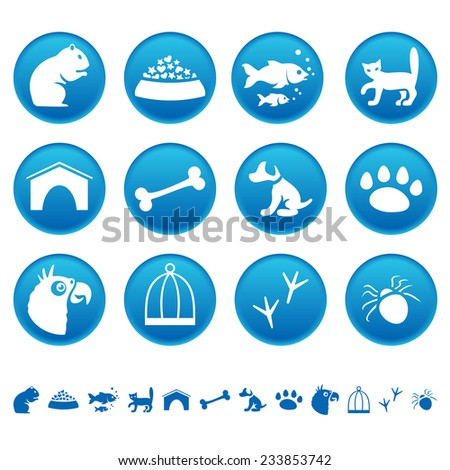 Pets icons - stock photo