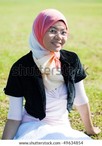petty girl smiling - stock photo