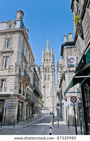 Pey Berland Tower located at Bordeaux, France - stock photo
