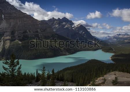 Peyto Lake at Banff National Park Canada - stock photo