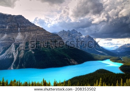 Peyto Lake at Canadian Rockies - stock photo