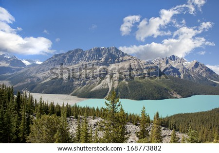 peyto lake banff national park alberta canada - stock photo