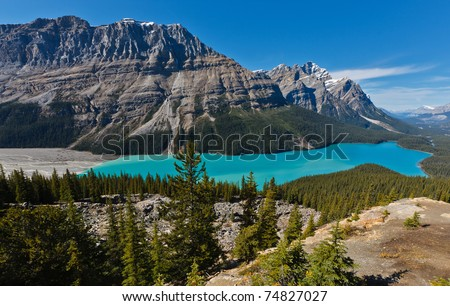 Peyto Lake,  Icefields Parkway, Banff National Park, Canadian Rockies, Alberta, Canada