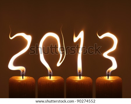 PF 2013 - Happy new year 2013 - stock photo