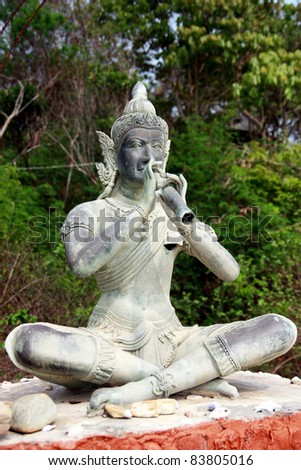 ph-ra aapai mani sculpture in thailand - stock photo