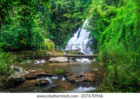 Pha Dok Xu waterfall at Doi Inthanon National park in Chiang Mai Thailand