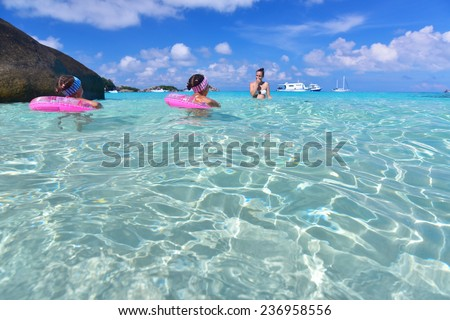 Phang Nga, Thailand-Dec 5, 2014 : clear water beautiful sea like a heaven at Similan island, Phang-nga Thailand
