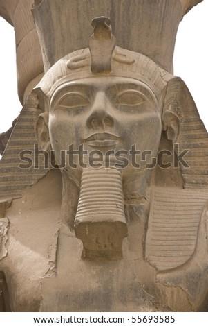 Pharaoh Ramses II - Luxor Temple, Egypt - stock photo