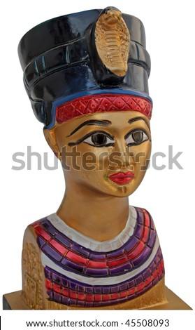pharaoh's head model. pharaoh's figure. - stock photo