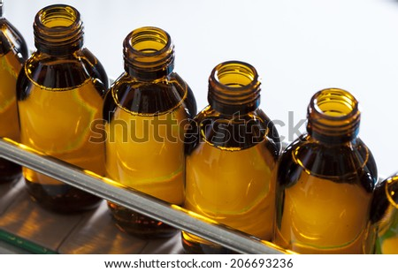 pharmaceutical production line - stock photo
